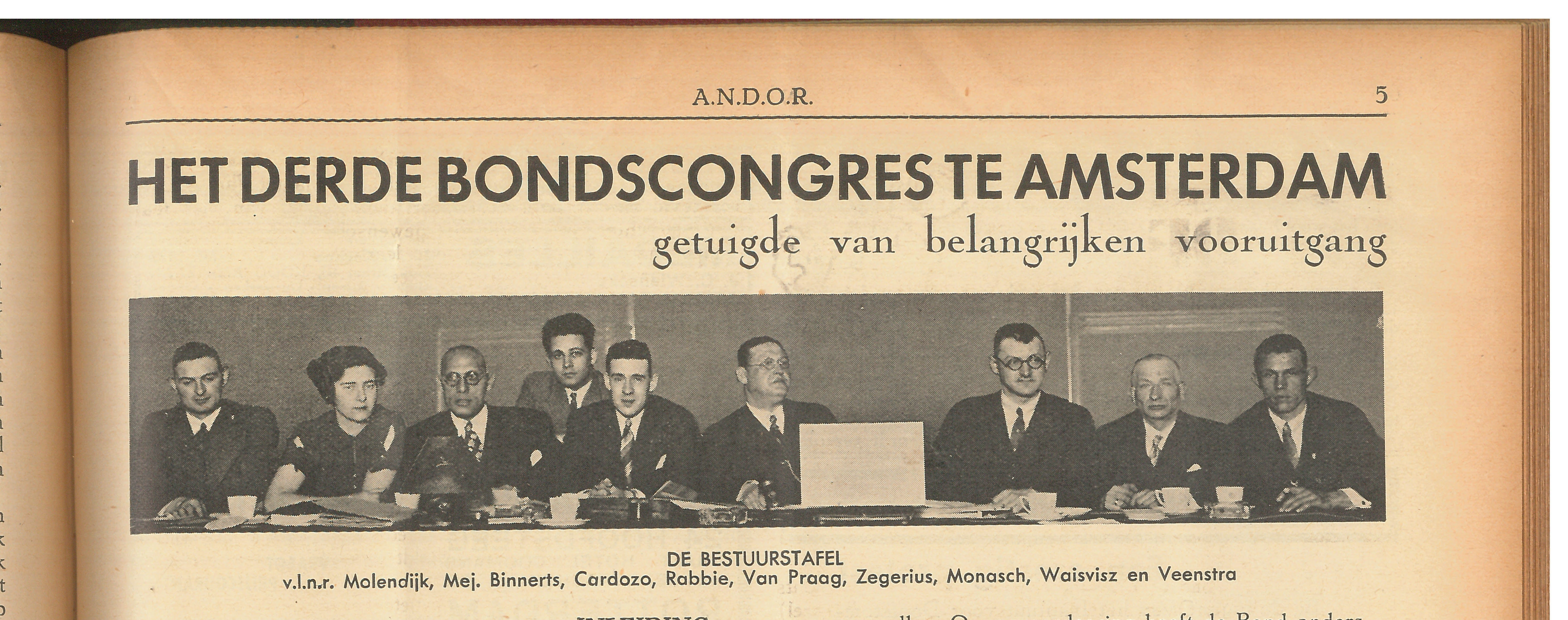ANDOR Committee 1934