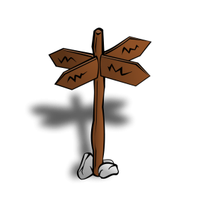 From Open Clipart: http://openclipart.org/detail/11500/rpg-map-symbols:-crossroads-sign-by-nicubunu