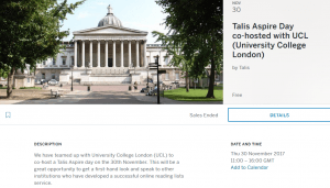 Talis Aspire and UCL event