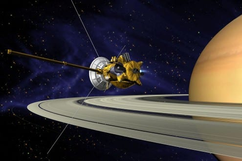 Artist's impression of Cassini at Saturn. Credit: NASA (public domain)