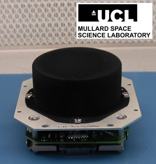 The Ion & Neutral Mass Spectrometer, designed and built at UCL, prior to being attached to the CubeSat. The device is less than 10cm across.