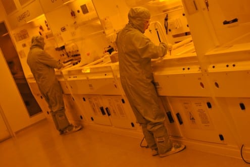 Inside LCN's cleanroom. Photo: O. Usher (UCL MAPS)