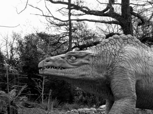Megalosaurus at Crystal Palace Park. Photo credit: O. Usher (UCL MAPS) (CC-BY)