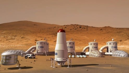 Human exploration of Mars: is this our future? Credit: Martin Kornmesser (ESA/Hubble)