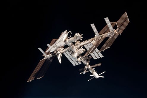 The International Space Station - our first step to Mars? Credit: NASA/Nespoli (public domain)