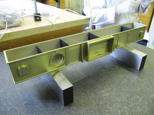 The ExoMars PanCam optical bench. Photo: MSSL