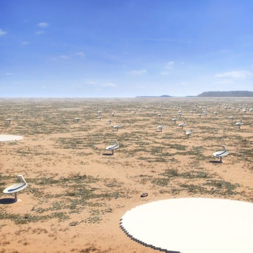 Artist's impression of the South African site of the Square Kilometer Array. Credit: SKA Organisation (CC BY)