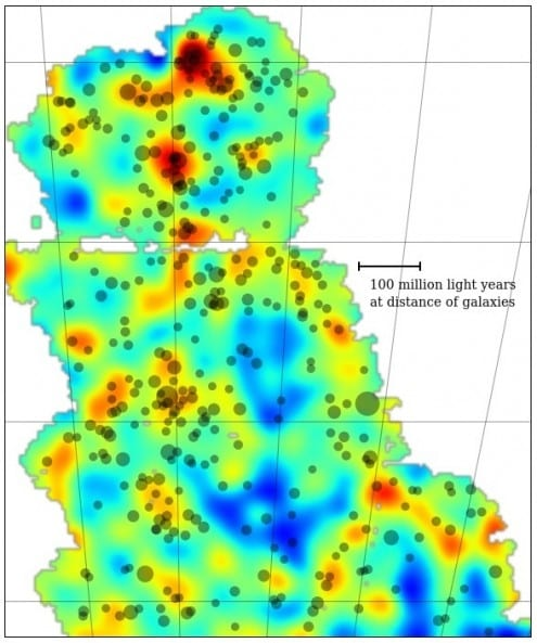 The first dark matter map to come out of the Dark Energy Survey. Credit: Fermilab/Dark Energy Survey