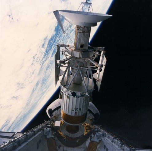 Magellan being deployed from the Space Shuttle Atlantis on 5 May 1990. Photo: NASA (public domain)