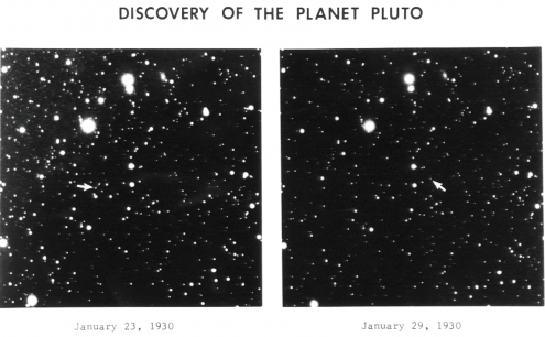The discovery images of Pluto