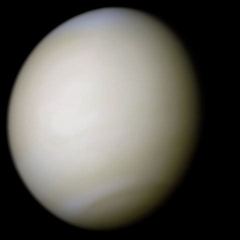The planet Venus, seen by Mariner 10. Credit: NASA (processing by Ricardo Nunes)