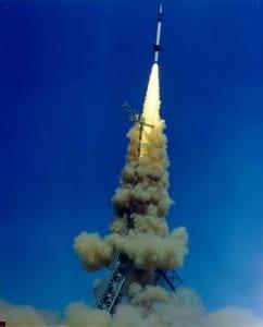 A typical Skylark launch in 1970.