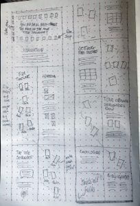 Sketch of my third wireframe