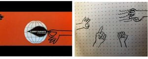Sketch of various had gestures
