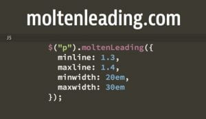 Java Script for adjusting leading with line measure