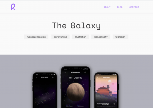Image of the Galaxy project page