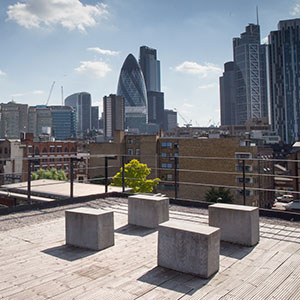 GCU London's roof terrace