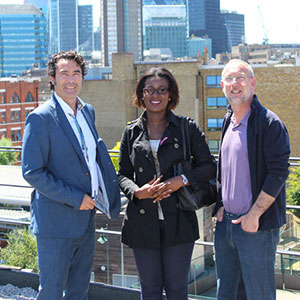 Antony Morgan, Liptia Aureole Ndoundou and Joan Paredes