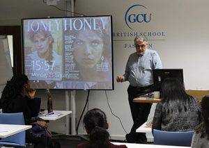 Eric Musgrave talks to fashion students