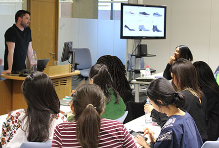 Daniel Blyth talks to fashion students