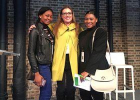 Margaret-Mary Owusu, Hannah Thilthorpe and Blair Clarke