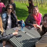 Students enjoy tasting wine