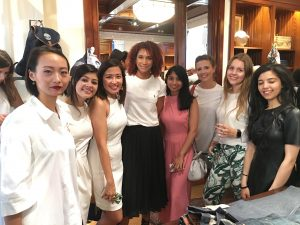 Fashion students at the event