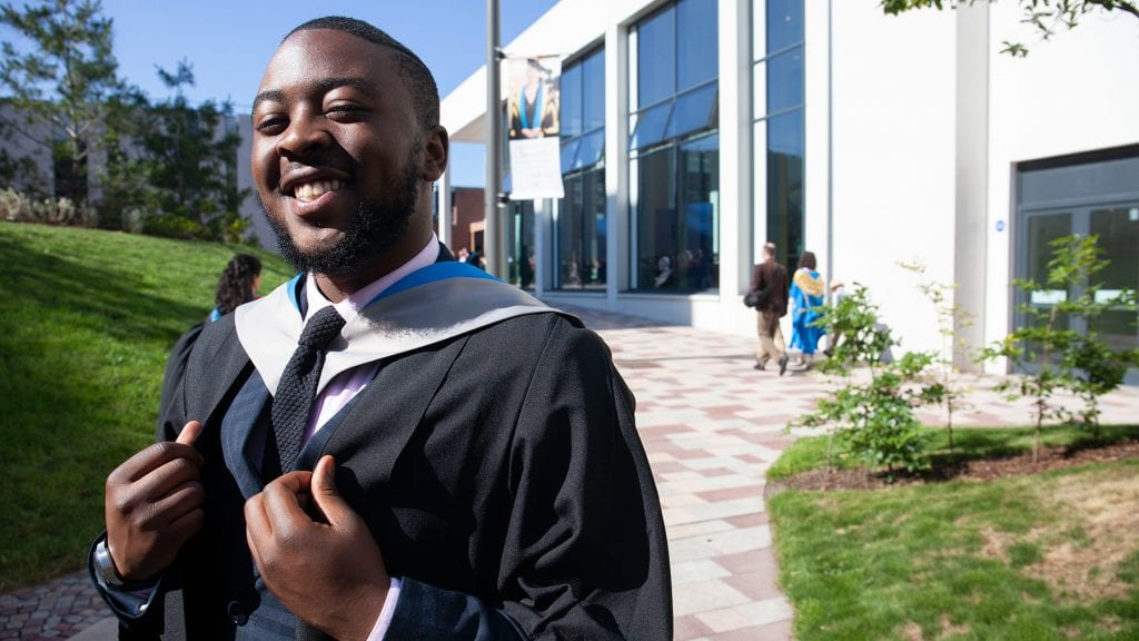 Jonathan Kankolongo, GCU graduate and successful Advanced Higher Hub pupil