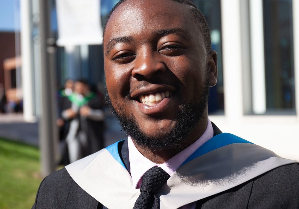 Jonathan Kankolongo Bachelor of Laws with Risk student Glasgow Caledonian University