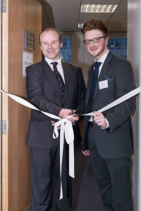 Greg opening the Law Clinic with Bruce Beveridge