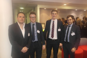 Ian and Ryan with Greg Scott from Ashurst and Ryan Watson from Livingstone Brown (both GCU Graduates)