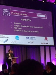 Scott+Co Scottish Legal Awards Pro Bono Finalists