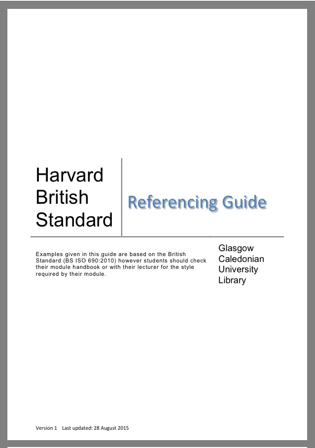 Harvard Guidelines Cover