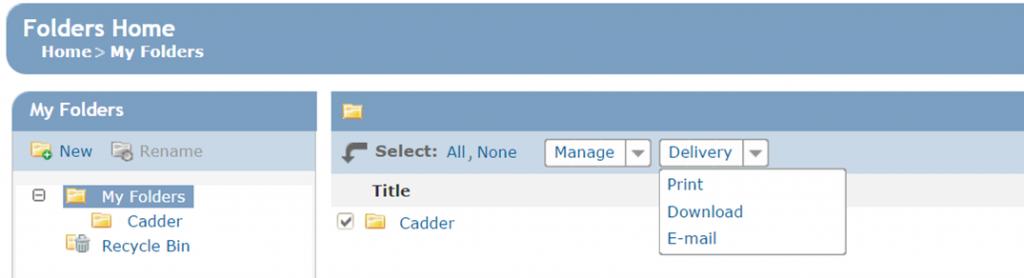Westlaw_folder options