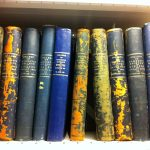 photograph of the minute books for the Glasgow and West of Scotland College of Domestic Science