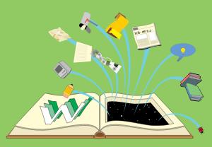 open textbook illustration