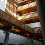 Picture of the library walkways