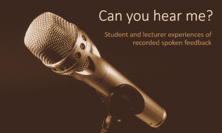 Can you hear me? Student and lecturer experiences of recorded spoken feedback