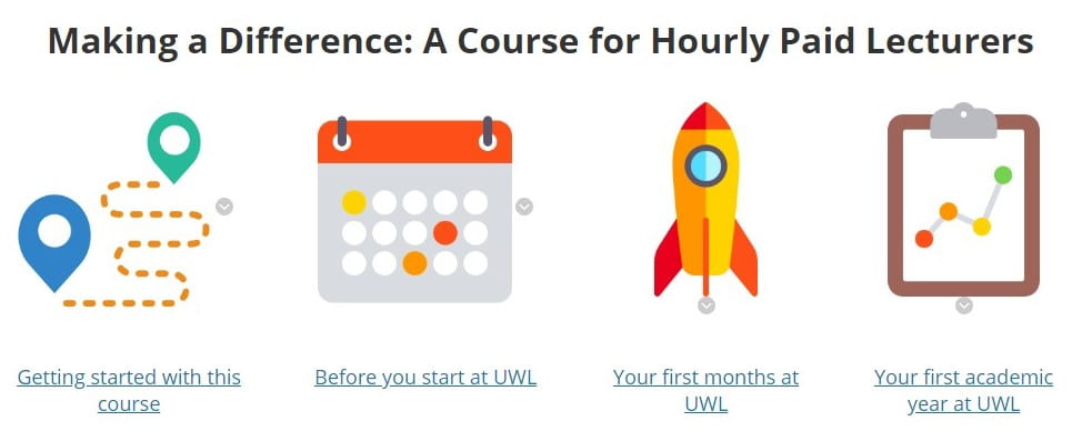 Making a difference: A course for Hourly Paid Lecturers