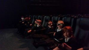 In the 4D cinema