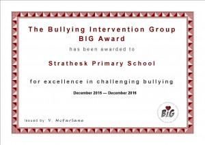 Strathesk Primary School Cert 2015-16