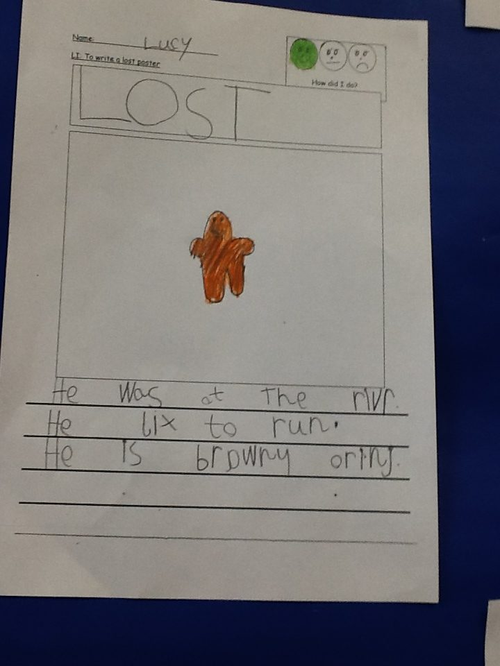 We've lost the Gingerbread Man!