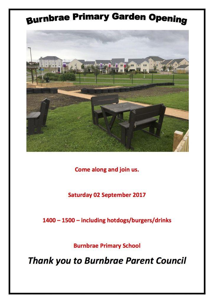 Burnbrae Primary Garden Opening