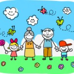 stock-illustration-9699341-family-with-grandparents-and-children-doodle-cartoon-in-nature