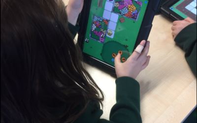 Using Beebot app in P1-3