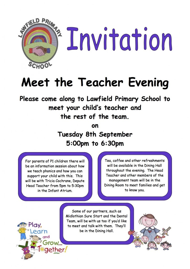 meet the teacher flyer copy