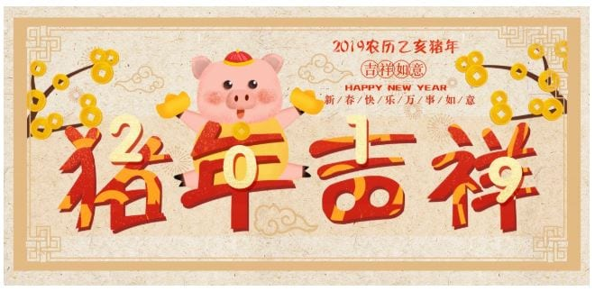 Chinese New Year- The Year of the Pig