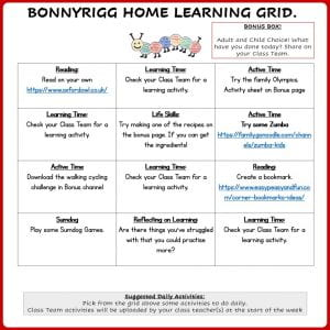 P4A Learning Grid Weeks 5-6