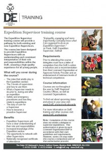 D of E Training Flyer