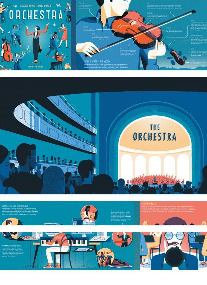 ORCHESTRA Publisher: Flying Eye Books Illustrator: David Doran Author: Avalon Nuovo